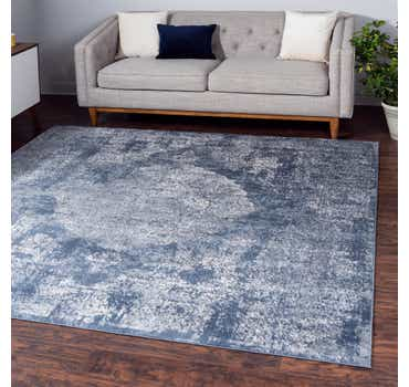 Blue Oregon Square Rug