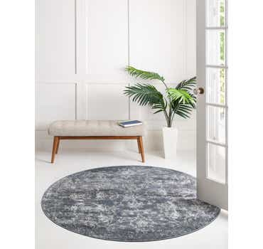Image of  Blue Oregon Round Rug