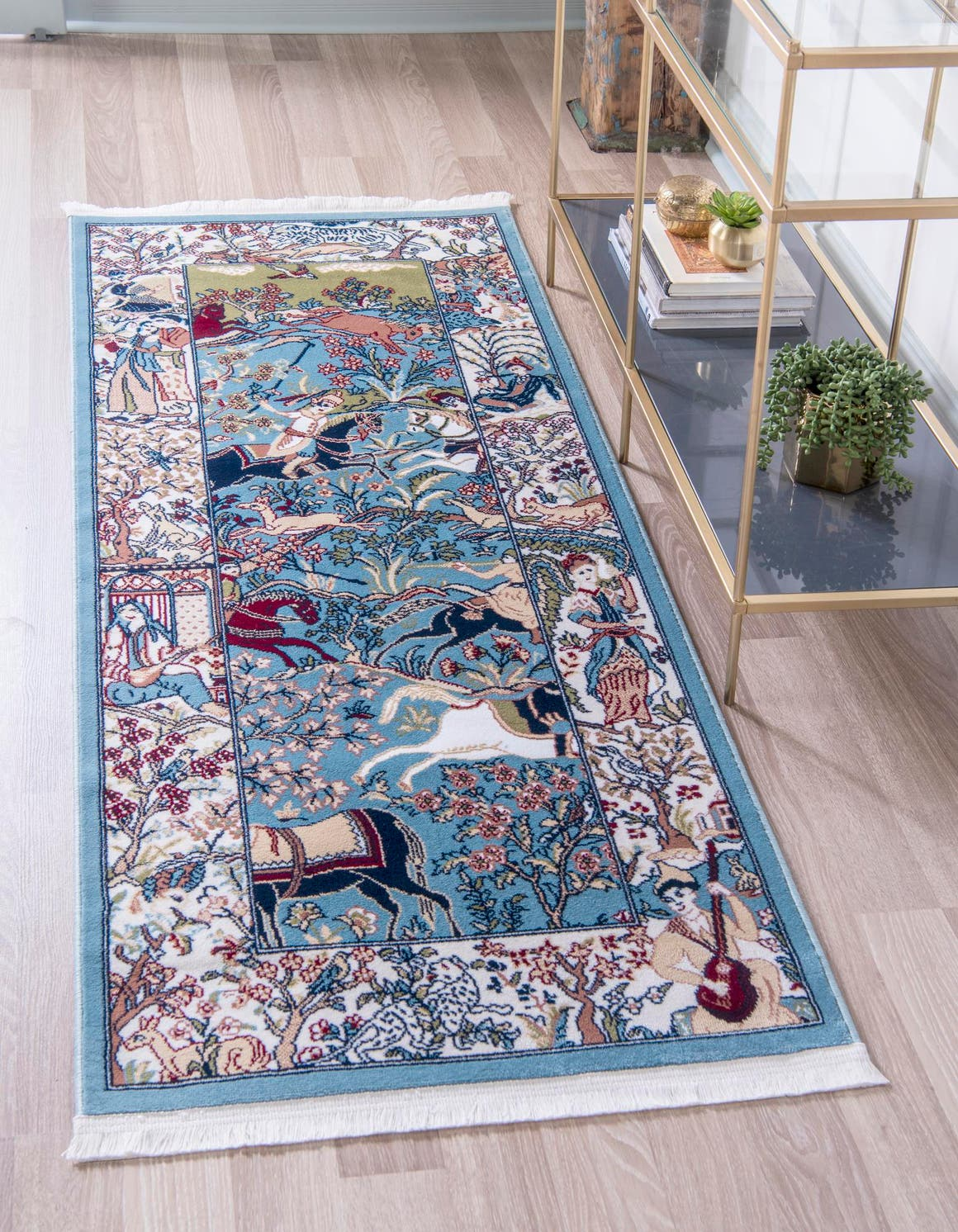 2' 6 x 6' Nain Design Runner Rug main image