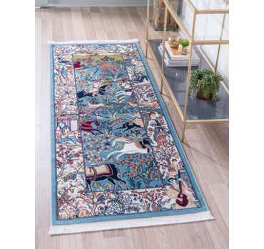 Image of  Blue Rabia Runner Rug