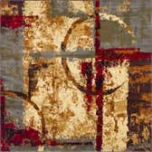 8' x 8' Coffee Shop Square Rug thumbnail