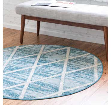 Image of  Light Blue Starlight Round Rug