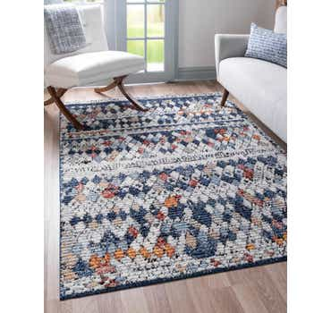 Image of  Navy Blue Morocco Rug