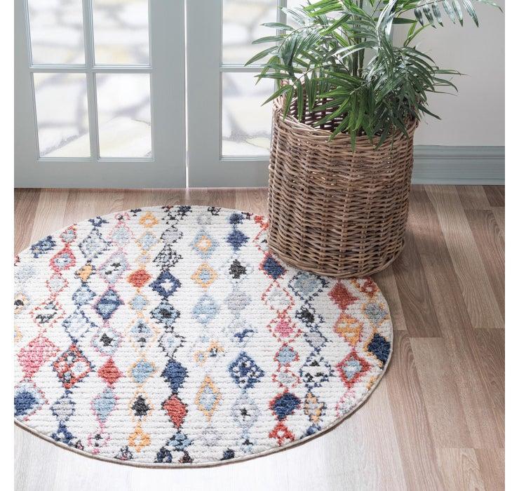 4' x 4' Morocco Round Rug