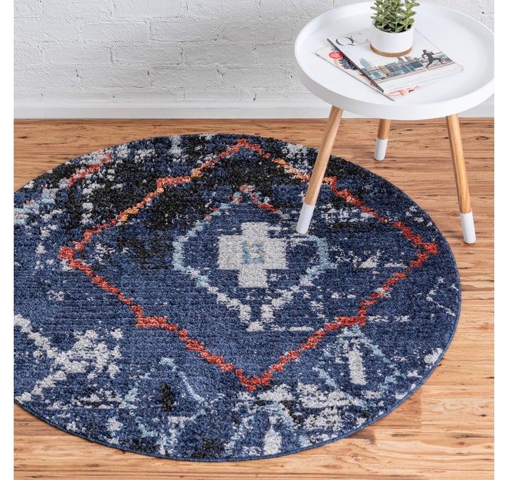 4' x 4' Morocco Round Rug