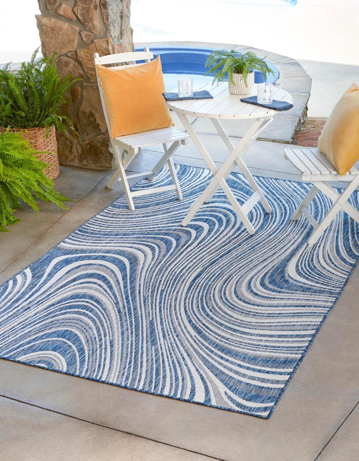 9' x 12' Outdoor Modern Rug main image
