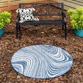 4' x 4' Outdoor Modern Round Rug thumbnail