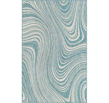 Light Aqua Outdoor Modern Rug