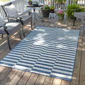 8' x 11' 4 Outdoor Striped Rug thumbnail