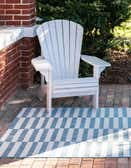 5' x 8' Outdoor Striped Rug thumbnail
