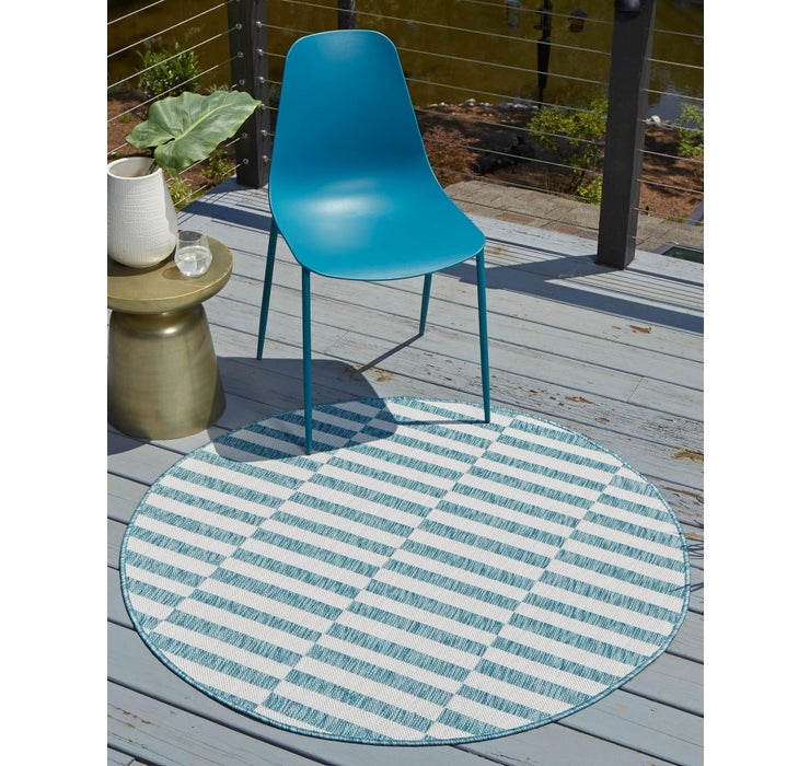 4' x 4' Outdoor Ribbon Round Rug