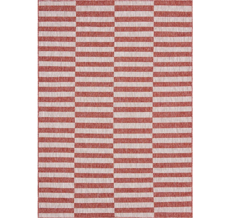 8' x 11' 4 Outdoor Striped Rug