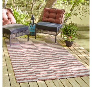 6' x 9' Outdoor Striped Rug main image