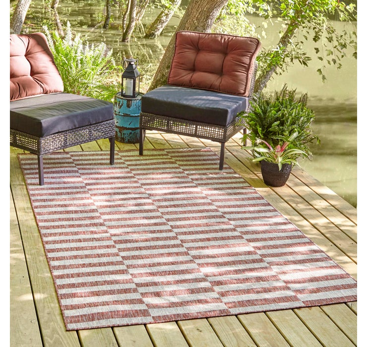 122cm x 183cm Outdoor Striped Rug