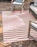 9' x 12' Outdoor Striped Rug thumbnail