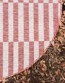 4' x 4' Outdoor Striped Round Rug thumbnail