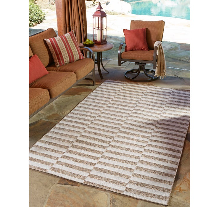 152cm x 245cm Outdoor Striped Rug