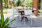 7' x 10' Outdoor Striped Rug thumbnail