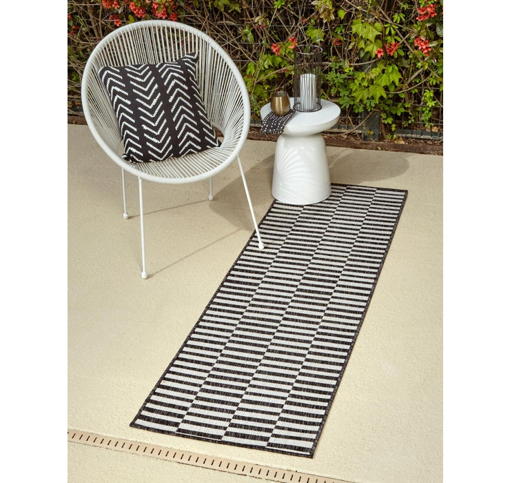 60cm x 183cm Outdoor Striped Runner ...