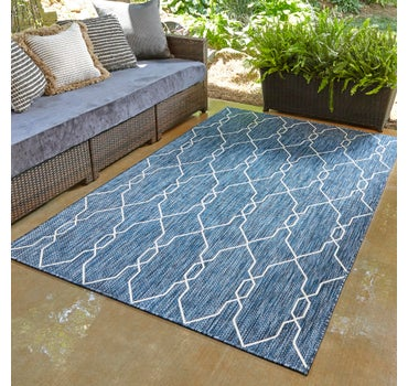 9' x 12' Outdoor Trellis Rug main image
