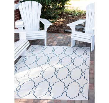 Ivory Outdoor Lattice Rug