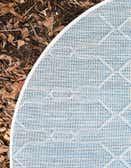 4' x 4' Outdoor Lattice Round Rug thumbnail