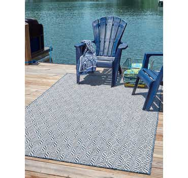Blue Outdoor Lattice Rug
