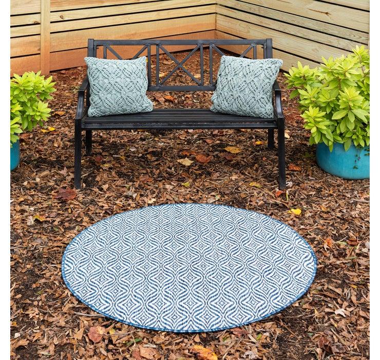 122cm x 122cm Outdoor Trellis Round Rug