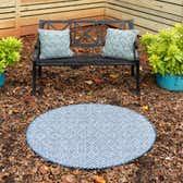 4' x 4' Outdoor Trellis Round Rug thumbnail
