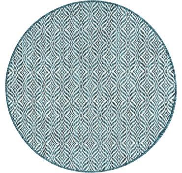 4' x 4' Outdoor Trellis Round Rug main image