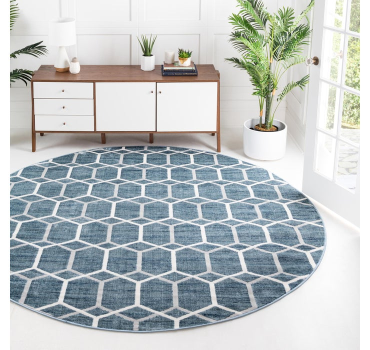 245cm x 245cm Lattice Trellis Round Rug
