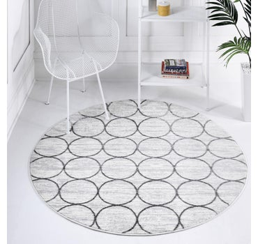 3' 3 x 3' 3 Lattice Trellis Round Rug main image