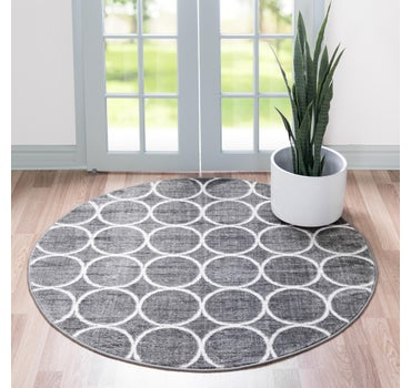 5' x 5' Lattice Trellis Round Rug main image