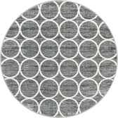 5' x 5' Lattice Trellis Round Rug thumbnail