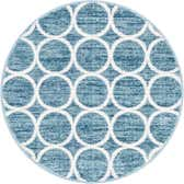 3' 3 x 3' 3 Lattice Trellis Round Rug thumbnail