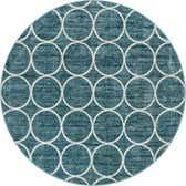 8' x 8' Lattice Trellis Round Rug thumbnail