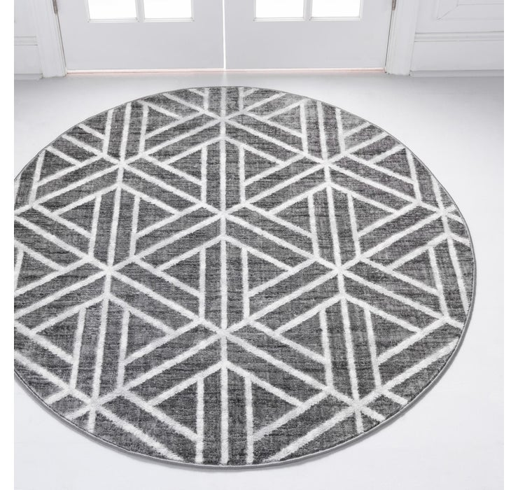3' 3 x 3' 3 Lattice Trellis Round Rug