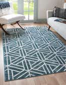 3' 3 x 5' 3 Lattice Trellis Rug thumbnail