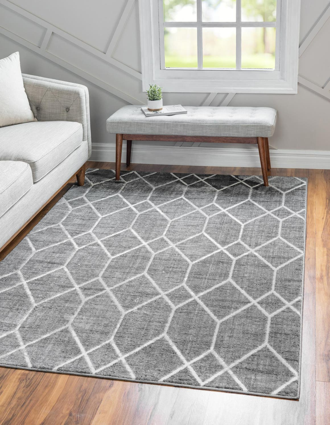 9' x 12' Lattice Trellis Rug main image