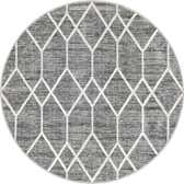 5' x 5' Lattice Trellis Round Rug thumbnail