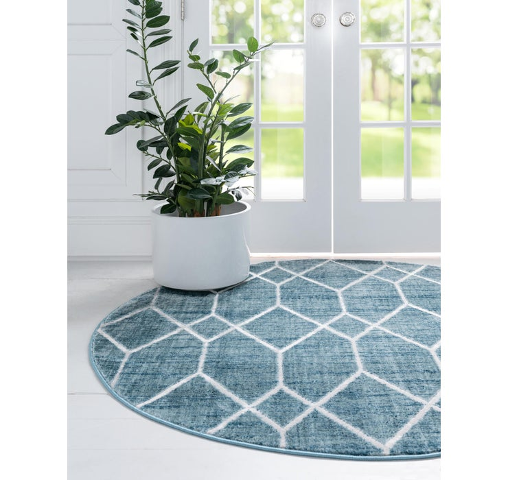 Image of 245cm x 245cm Lattice Trellis Round Rug