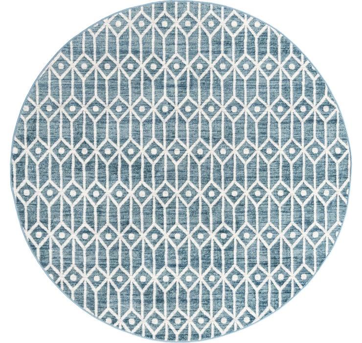 8' x 8' Lattice Trellis Round Rug