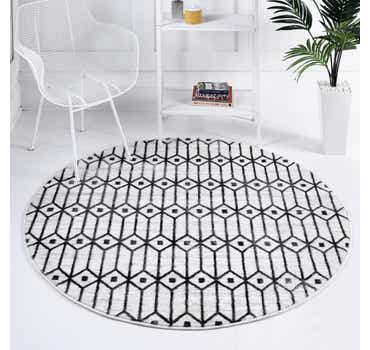 5' x 5' Lattice Trellis Round Rug
