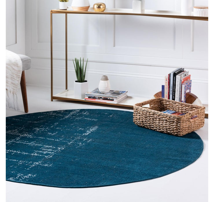 Image of  Blue Valencia Round Rug
