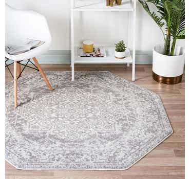 Image of  White Arlington Octagon Rug