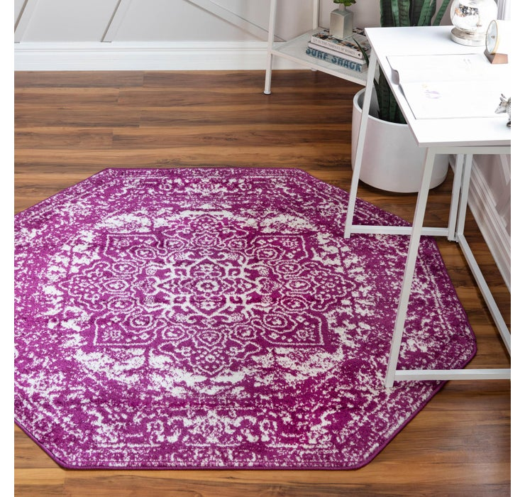 Purple Arlington Octagon Rug