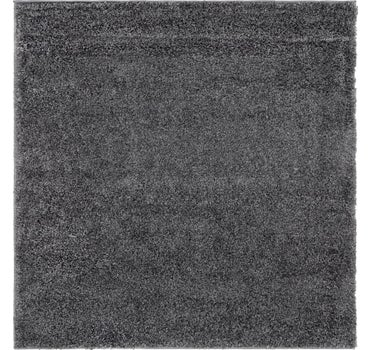 4' x 4' Soft Solid Shag Square Rug main image