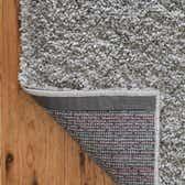 4' x 4' Soft Solid Shag Square Rug thumbnail