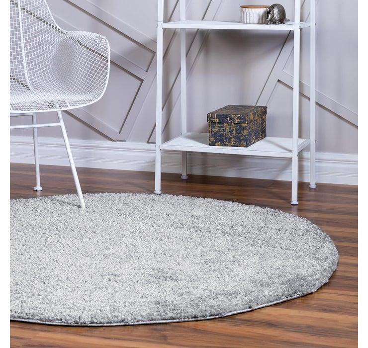 100cm x 100cm Soft Solid Shag Round Rug