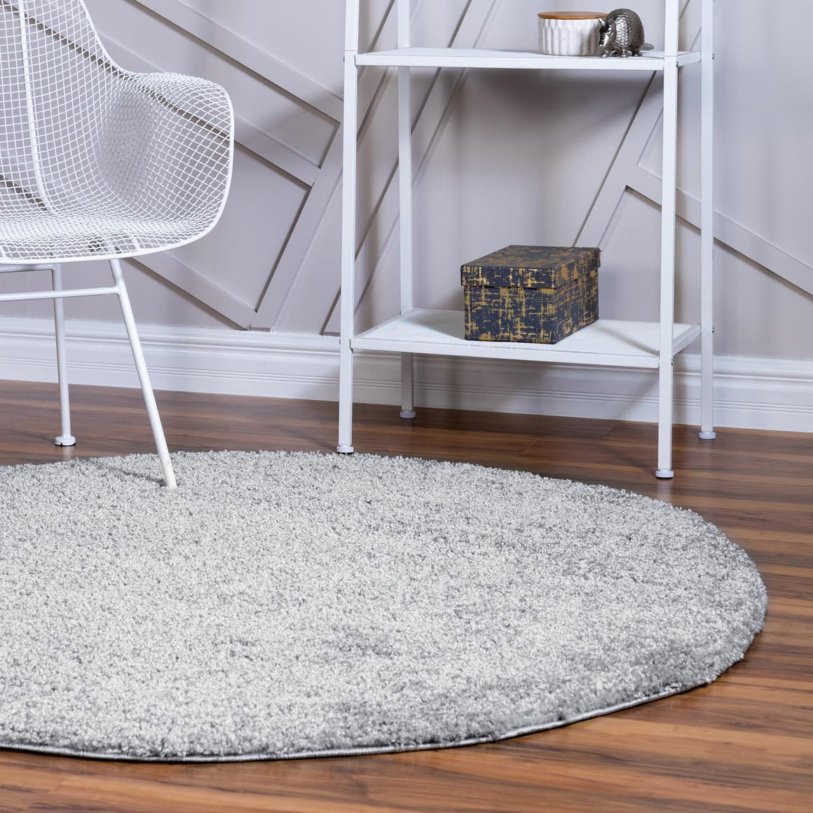 6' x 6' Soft Solid Shag Round Rug main image